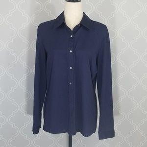 J McLaughlin Blue Button Down Shirt